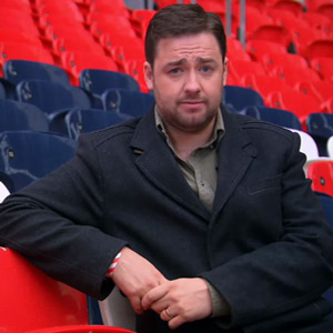 Eurogeddon: Why England Shouldn't Win Euro 2012. Jason Manford. Image credit: Channel X.