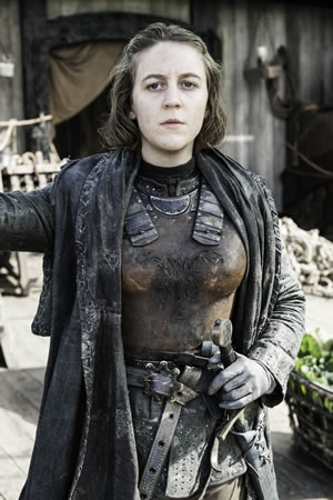 Yara Greyjoy from Game Of Thrones. Gemma Whelan.