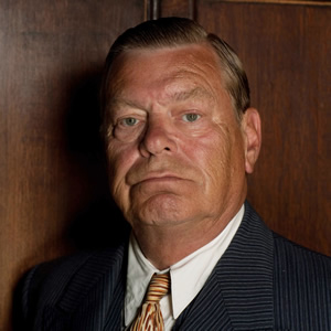 Just William. Mr Bott (Warren Clarke). Copyright: BBC.