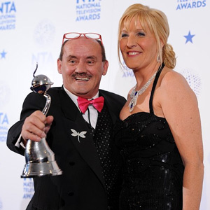 Image shows from L to R: Brendan O'Carroll, Jennifer Gibney. Image credit: PA Images / Dominic Lipinski.