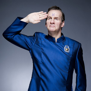 Red Dwarf. Rimmer (Chris Barrie). Image credit: Grant Naylor Productions.