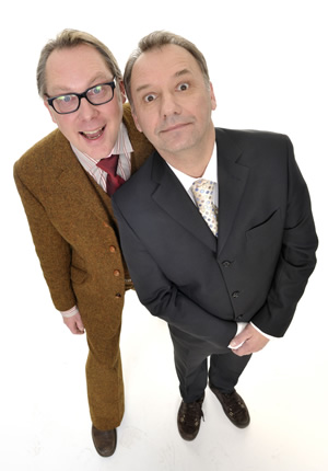 Shooting Stars. Image shows from L to R: Vic Reeves, Bob Mortimer. Copyright: Channel X / Pett Productions.