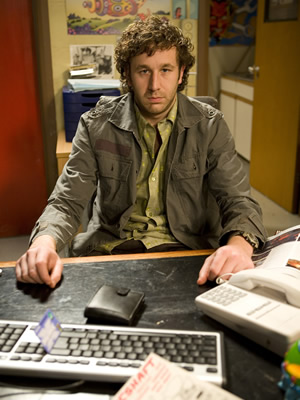 The IT Crowd. Roy (Chris O'Dowd). Image credit: TalkbackThames.