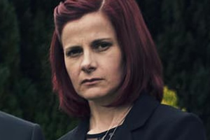Back. Cass (Louise Brealey).