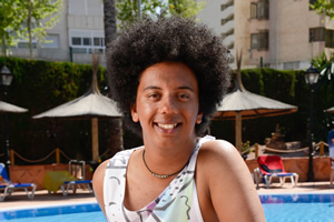 Benidorm. Joey Ellis (Nathan Bryon). Copyright: Tiger Aspect Productions.