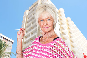 Benidorm. Madge (Sheila Reid). Copyright: Tiger Aspect Productions.