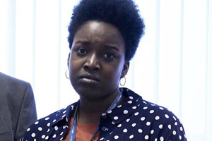 Damned. Mimi (Lolly Adefope). Copyright: What Larks Productions.