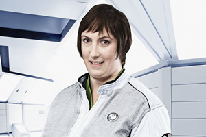 Hyperdrive. Diplomatic Officer Teal (Miranda Hart). Copyright: BBC.