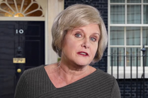Jan Ravens Theresa May Sitcom. Theresa May (Jan Ravens).