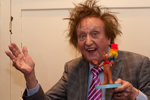 Ken Dodd receiving the Aardman Slapstick Comedy Legend Award. Ken Dodd.