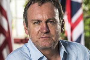 Living The Dream. Mal Pemberton (Philip Glenister). Copyright: Big Talk Productions.