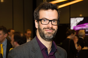 BBC Audio Drama Awards 2015. Marcus Brigstocke. Copyright: BBC.