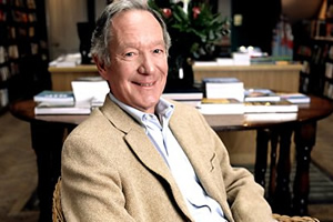 Moral Maze: The Morality Of Comedy. Michael Buerk. Copyright: BBC.
