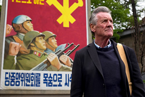 Michael Palin films in North Korea
