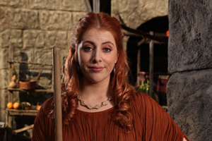 Plebs. Metella (Lydia Rose Bewley). Copyright: RISE Films.
