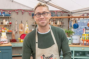 The Great Celebrity Bake Off for Stand Up To Cancer 2020. Russell Howard. Copyright: Channel 4 Television Corporation.