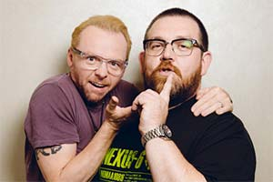 Image shows from L to R: Simon Pegg, Nick Frost.
