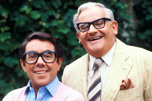 Image shows from L to R: Ronnie Barker, Ronnie Corbett. Copyright: BBC.