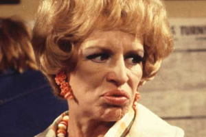 George & Mildred. Mildred Roper (Yootha Joyce). Copyright: Thames Television.