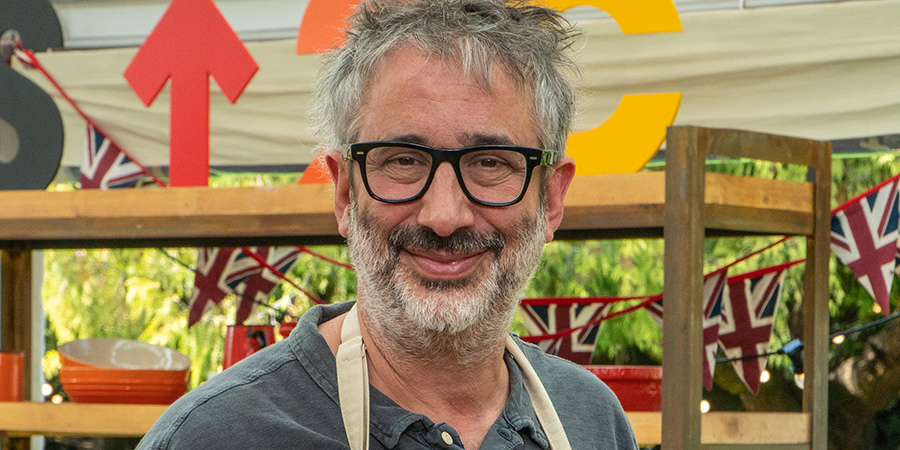The Great Celebrity Bake Off For Stand Up To Cancer 2021. David Baddiel.
