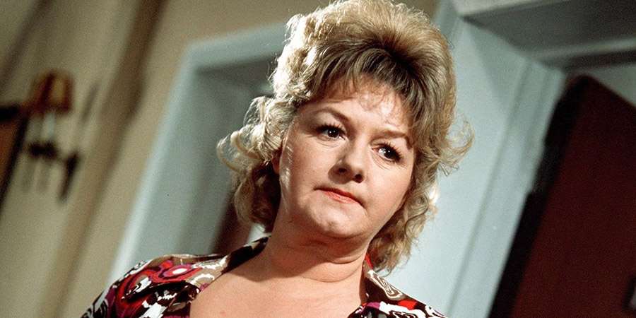 Carry On Abroad. Cora Flange (Joan Sims). Copyright: Rank Organisation.