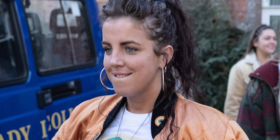 Derry Girls. Michelle Mallon (Jamie-Lee O'Donnell). Copyright: Hat Trick Productions.