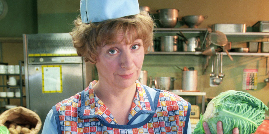 dinnerladies. Brenda (Victoria Wood). Copyright: Good Fun / Pozzitive Productions.