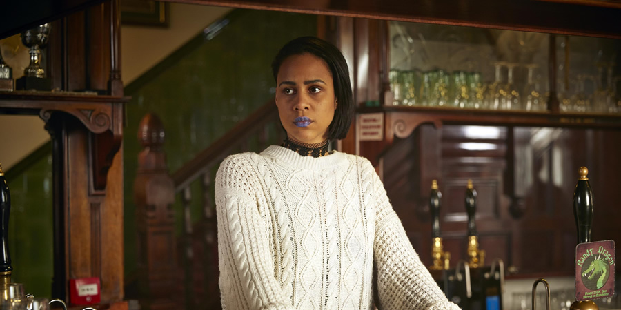 Fresh Meat. Vod (Zawe Ashton). Copyright: Objective Productions / Lime Pictures.