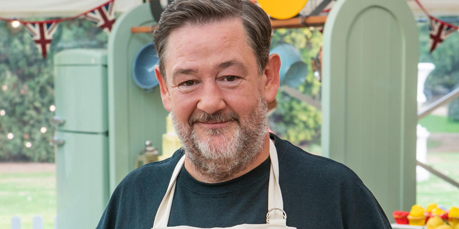 The Great Celebrity Bake Off for Stand Up to Cancer 2019. Johnny Vegas.