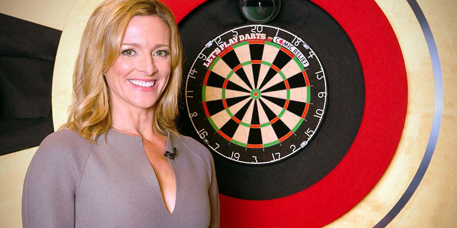 Let's Play Darts. Gabby Logan. Copyright: Zeppotron.