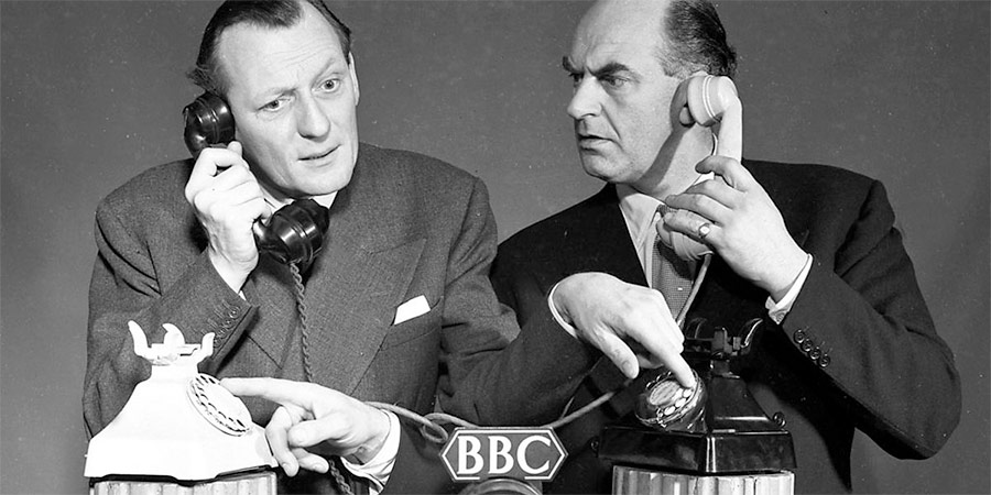 Image shows from L to R: Richard Murdoch, Kenneth Horne. Copyright: BBC.