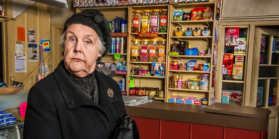 Still Open All Hours. Mrs Featherstone (Stephanie Cole). Copyright: BBC.