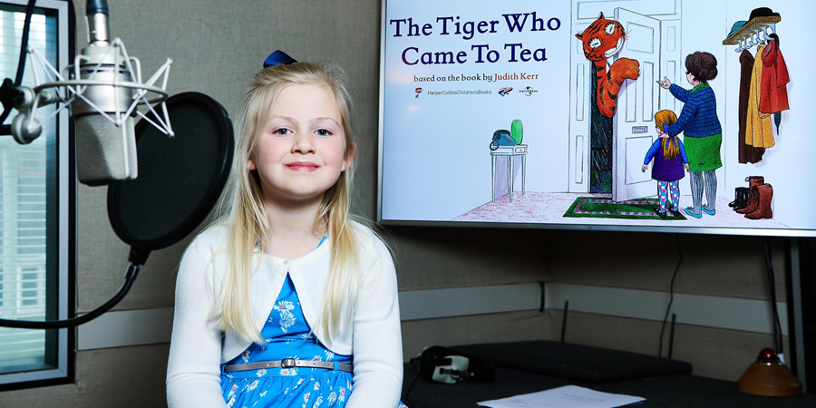 The Tiger Who Came To Tea. Clara Ross. Copyright: Channel 4 Television Corporation.