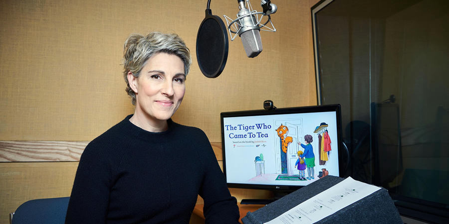 The Tiger Who Came To Tea. Tamsin Greig. Copyright: Channel 4 Television Corporation.