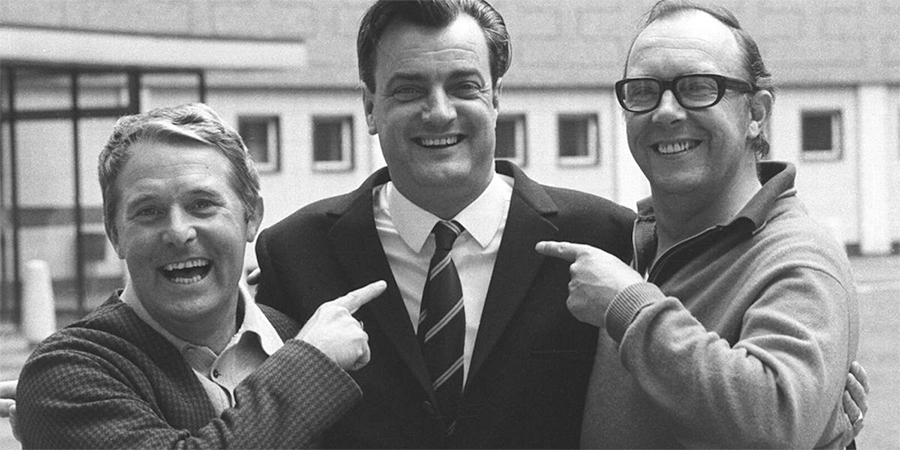 Image shows from L to R: Ernie Wise, Eddie Braben, Eric Morecambe. Copyright: BBC.