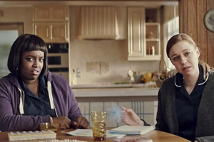 Image shows from L to R: Lolly Adefope, Ellie White.