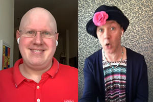 Image shows from L to R: Matt Lucas, Reece Shearsmith.