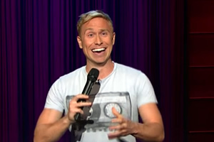 Russell Howard on James Corden's show